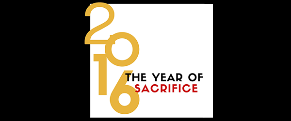 2016 The Year of Sacrifice
